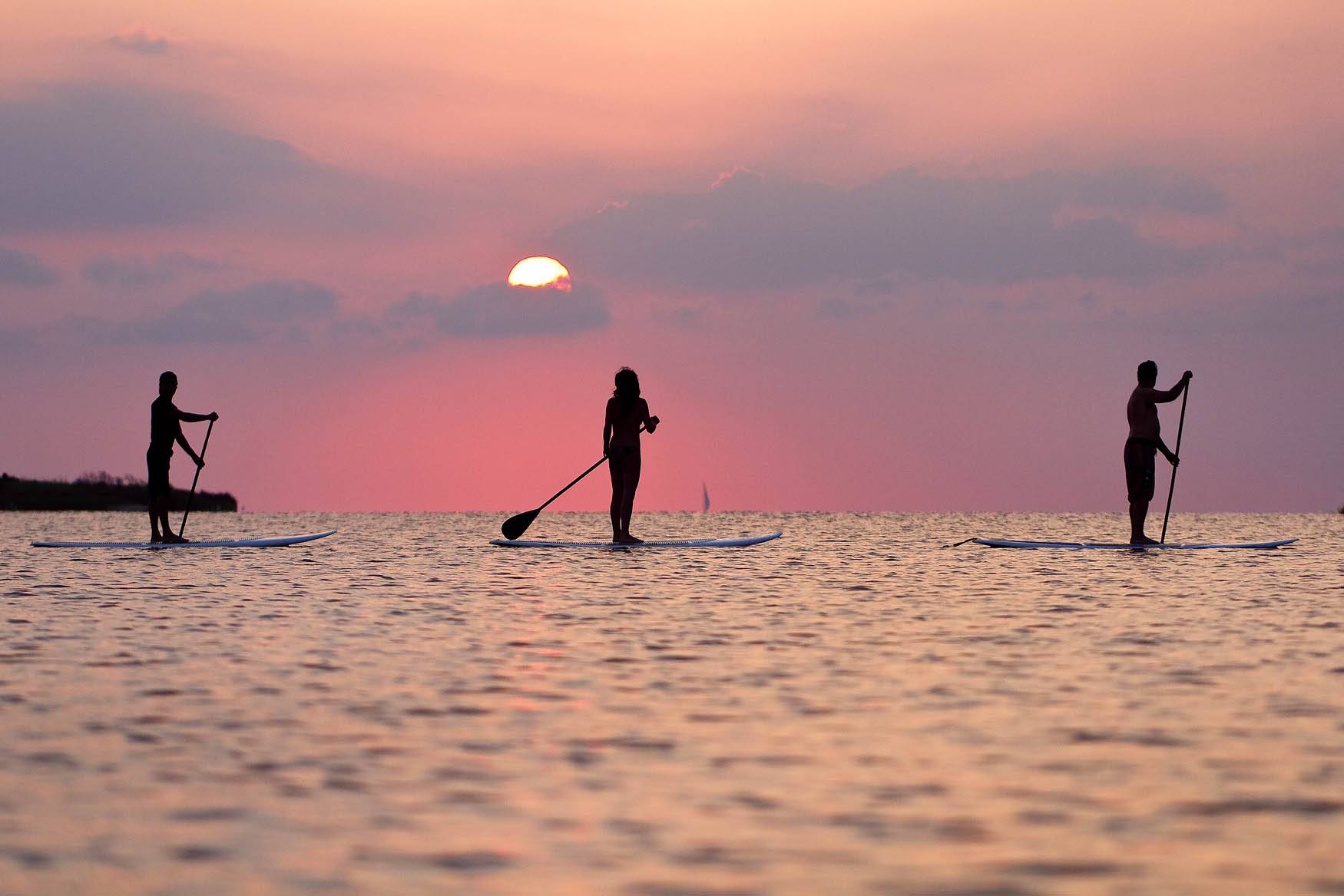 Paddleboarding Sunset